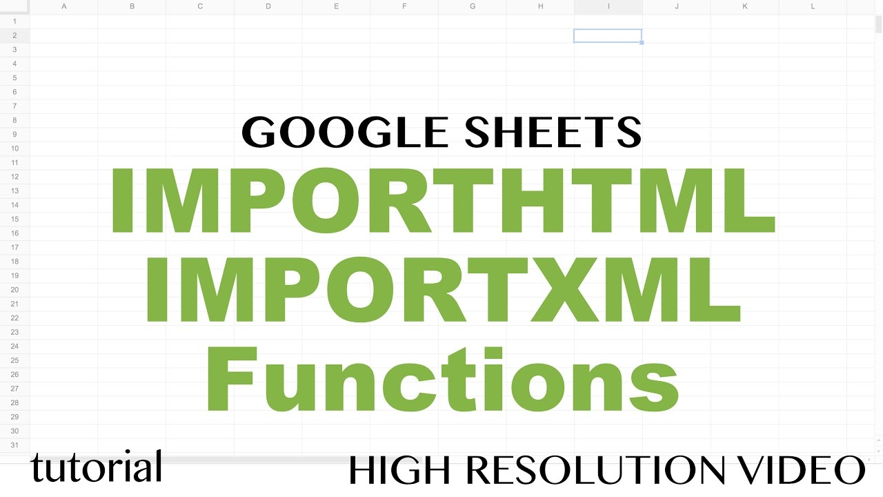 Importhtml importxml functions google sheets tutorial to extract importhtml importxml functions google sheets tutorial to extract from web pages to spreadsheets 2 baditri Image collections
