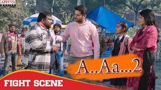 Fight Scene  | A.AA.. 2 (chalmohan Ranga) Hindi Dubbed Movie | Nithiin, Megha Akash.