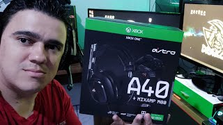 Fone Headset Gamer Astro A40   Mixamp M80   Unboxing RÁpido