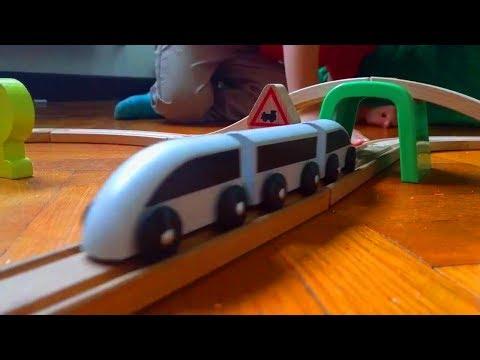 Ikea Lillabo Wooden Train Set Youtube
