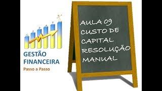 Aula 09 - Caso - Custo de Capital - Resolução Manual