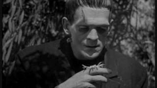 This is a video with the original 1931 version of Frankenstein goin...