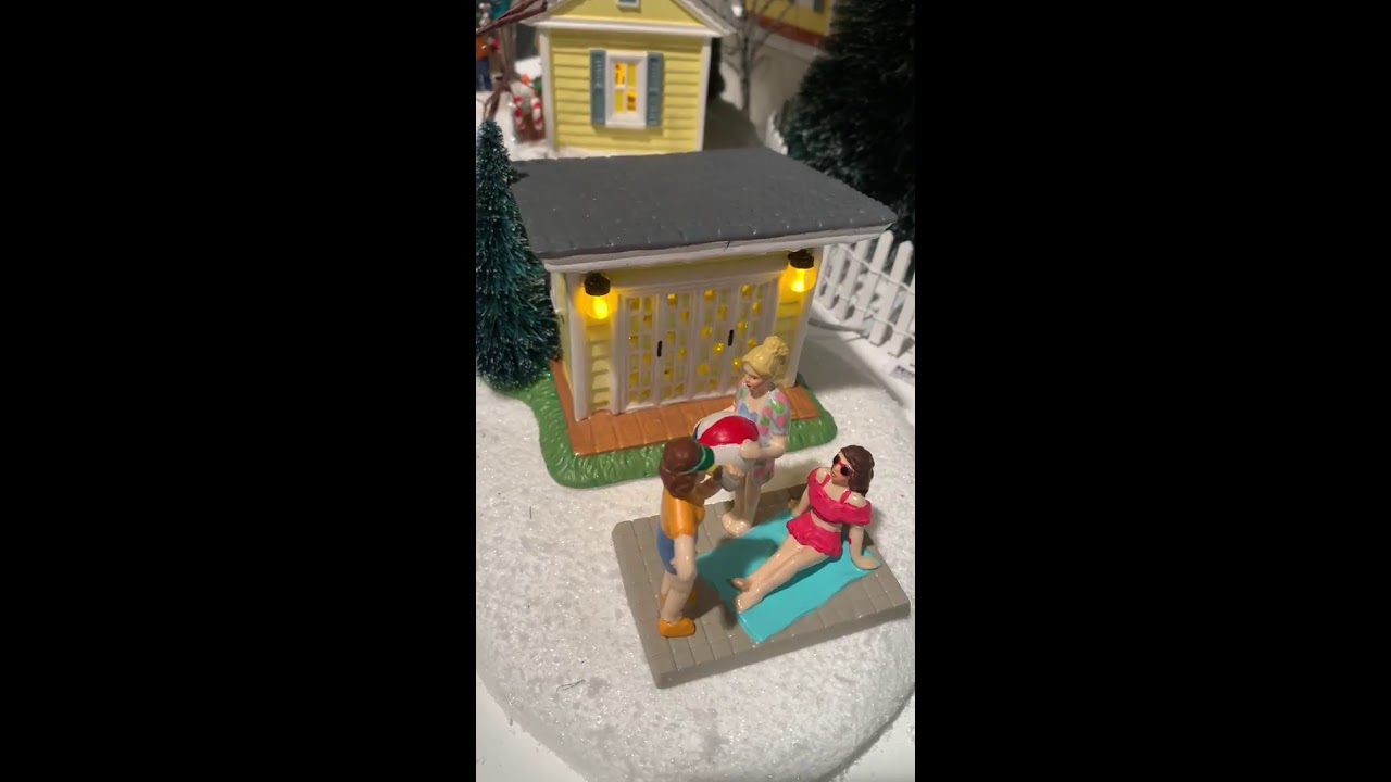 Pool Fantasy From Dept 56 Christmas Vacation Snow Village