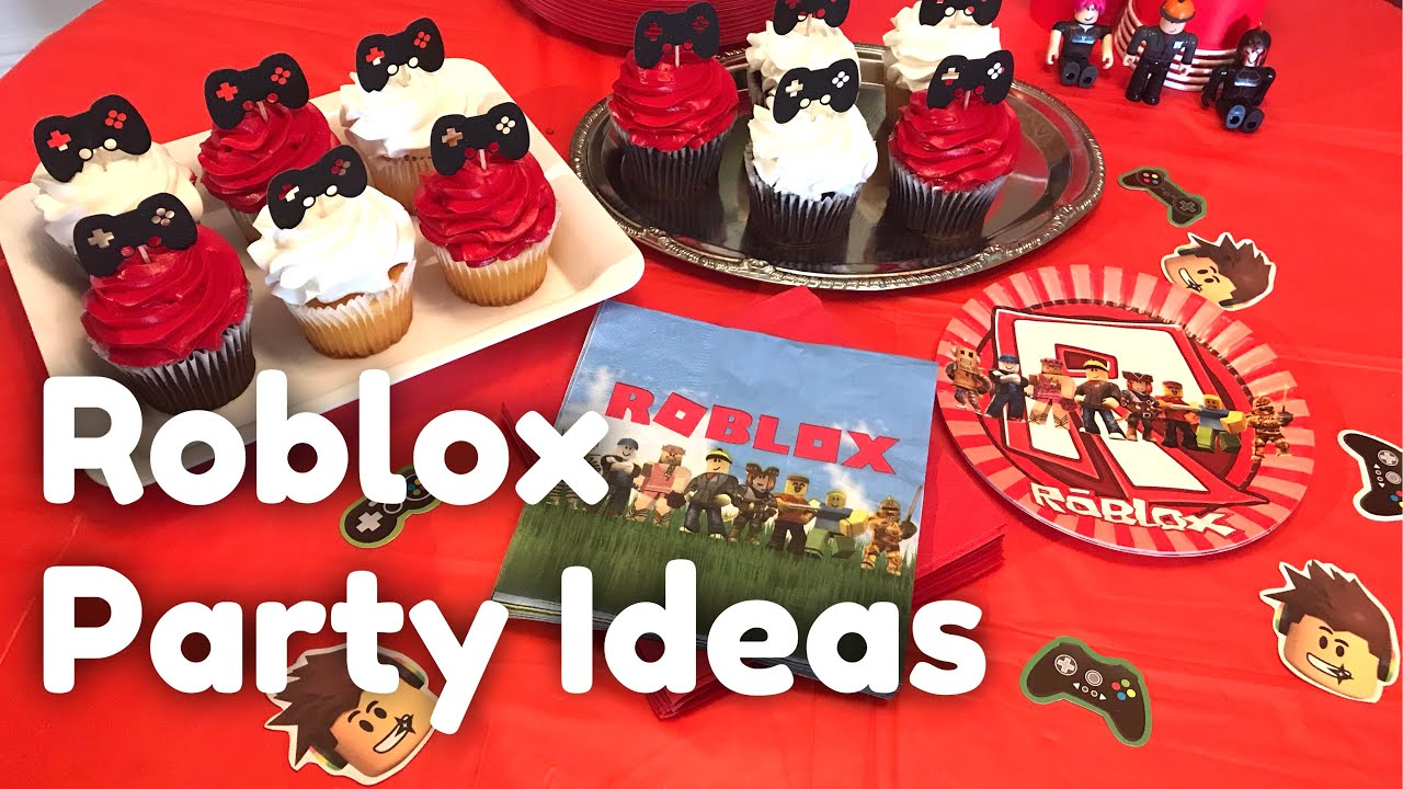 Roblox Party Ideas For Girl Roblox Party Ideas Gaming Birthday Party Gamer Girl Party Decor Youtube
