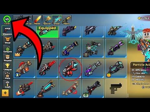 Get LEVEL 45 + ALL GUNS FOR FREE IN PIXEL GUN 3D 15.8.1!!!!