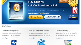 Max Utilities - All-in-one PC Optimization Tool. Download your free trial today!
