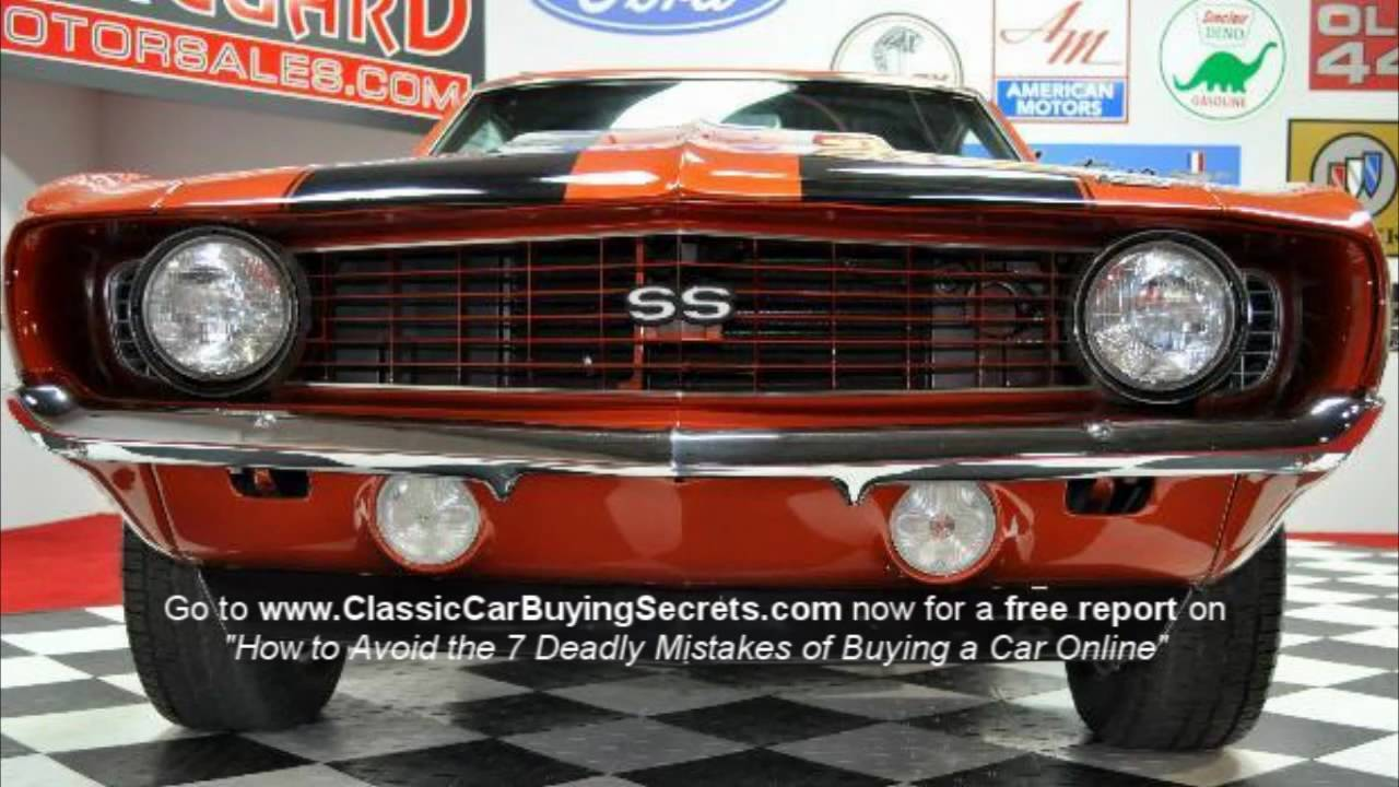 1969 chevy camaro ss 383 stroker classic muscle car for sale in mi vanguard motor sales youtube. Black Bedroom Furniture Sets. Home Design Ideas