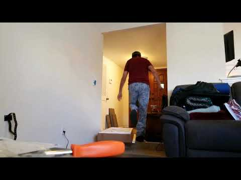 Wayfair TV stand assembly time lapse