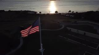 Fort Moultrie Flag at Sunset | Drone Footage