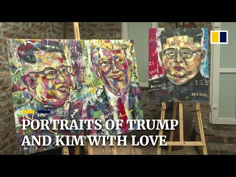Vietnamese artist paints Trump and Kim with hearts and 'LOVE'