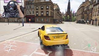 Mercedes Benz C63 AMG Black - Forza Horizon 4 | Logitech g29 gameplay