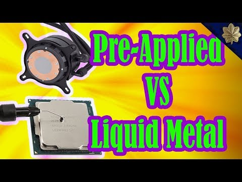Is Pre-applied Thermal Compound Any good? | How to Apply Liquid Metal Correctly to Lower CPU Temps.
