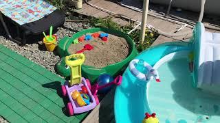 Літні іграшки на дачі дитини 1-2 роки