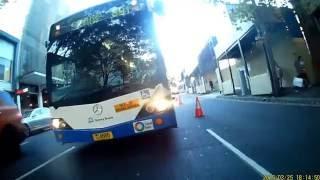 Aggressive bus driver on Foveaux Street, Sydney