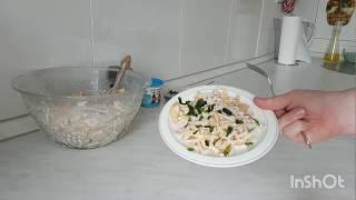 Вкусный салат с кальмарами # Вкусный соус
