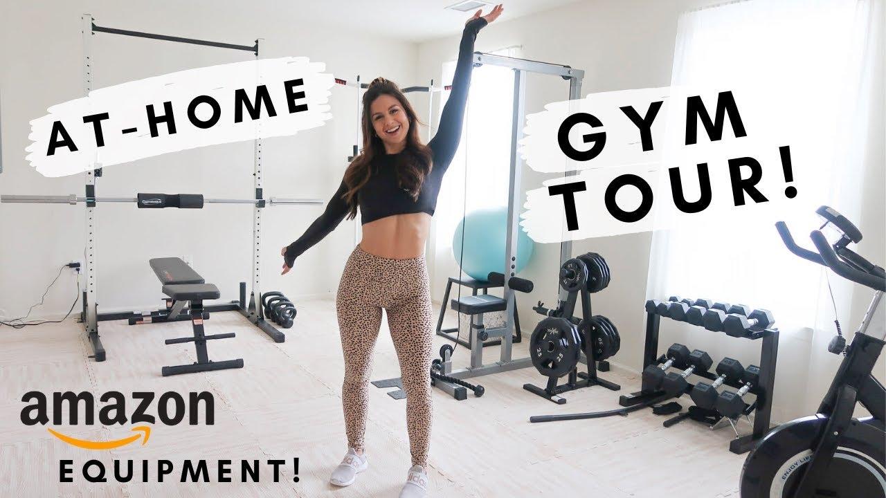 MY HOME GYM TOUR! AMAZON AFFORDABLE GYM EQUIPMENT | ASHLEY GAITA - YouTube