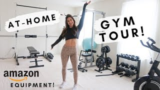 MY HOME GYM TOUR! AMAZON AFFORDABLE GYM EQUIPMENT | ASHLEY GAITA