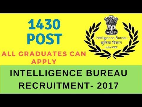 Intelligence Bureau Recruitment 2017 | Assistant Central Intelligence Officer Grade-II