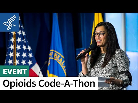 HHS opioid Code-a-Thon closing ceremony