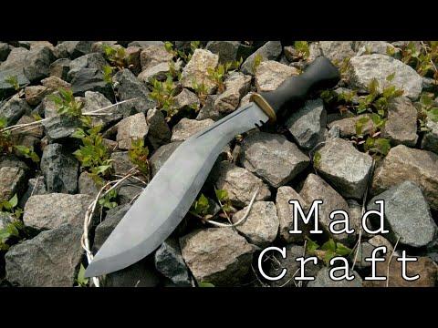 Как сделать нож из рессоры без ковки. Кукри своими руками