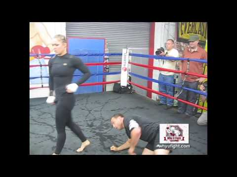 Rousey Sparring