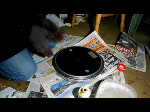 how to make the platter on your turntable shiny again part 1
