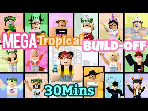 MEGA Tropical Build-Off 30 MINUTES! Panda V.s. 15 FANS!
