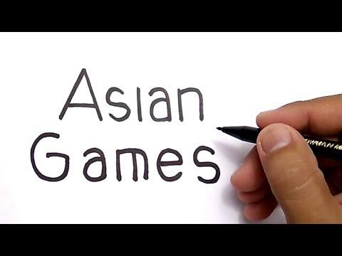 KEREN, CARA MENGGAMBAR KATA ASIAN GAMES menjadi GAMBAR AJAIB