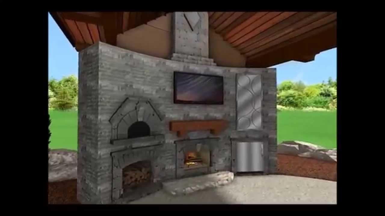 landscape design 3d digital walkthrough timber cabana