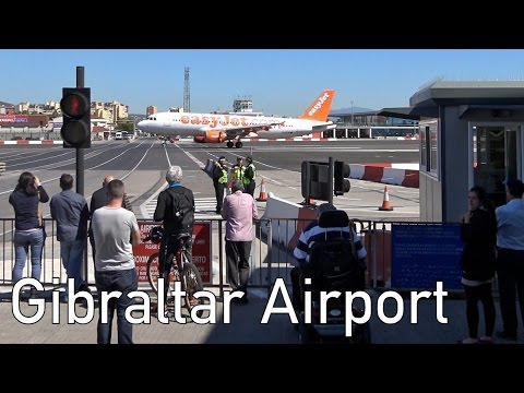 Road crosses Runway | Gibraltar Airport | 4K