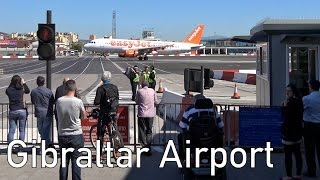Amazing: Road crosses Runway at Gibraltar Airport | 4K