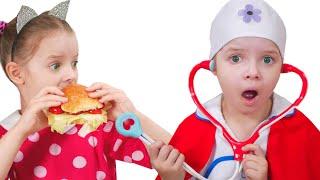 Nicole y Misha enseñan simples reglas de cómo comer bien a los niños