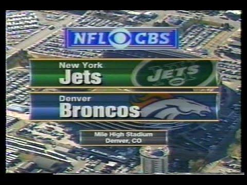 NFL on CBS - 1998 Jets vs Broncos - AFC Championship - Into, Lineups