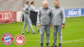 1st Training of Hansi Flick & Hermann Gerland | Final Training Session ahead of the Game vs. Piraeus