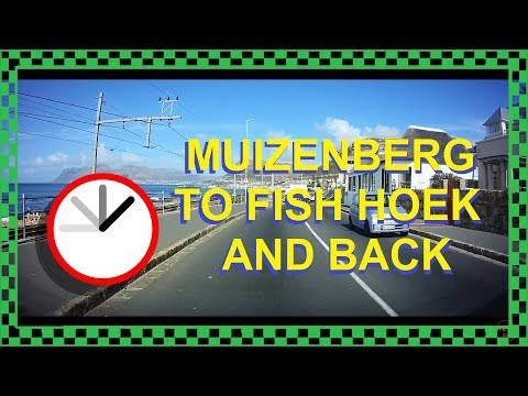 Driving From Muizenberg To Fish Hoek And Back - Dash Cam Cape Town Traffic South Africa