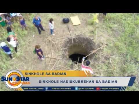 Sinkhole nadiskubrehan sa Badian
