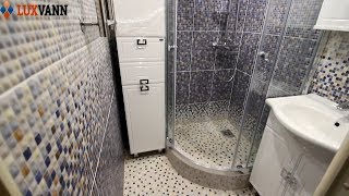 ИДЕИ ДЛЯ РЕМОНТА маленькой ванной ДУШЕВОЙ поддон из плитки.
