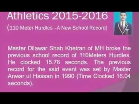 Dilawar Shah Khetran.Best Athlete.Sadiq Public School,Bahawalpur