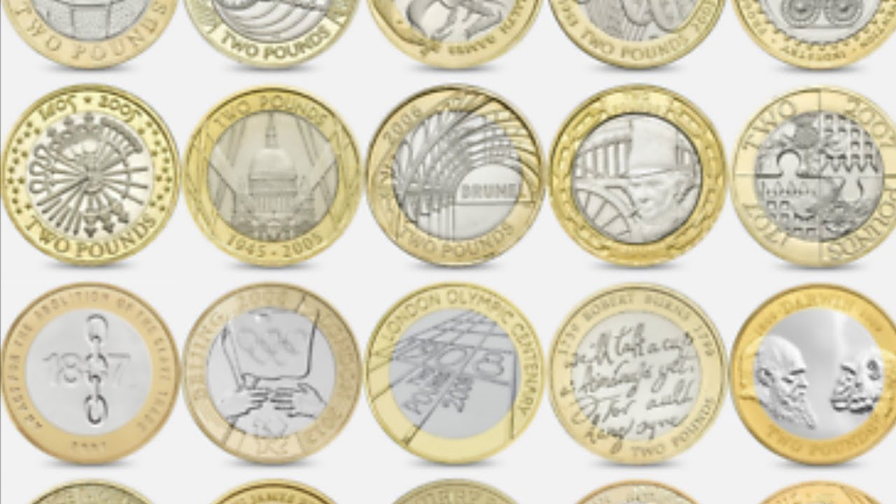 ALL £2 COINS IN CIRCULATION + TOP 20 £2 COIN VALUES