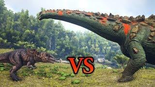FULL IMPRINT GIGA vs TITANOSAUR | ARK: Survival Evolved | Cantex