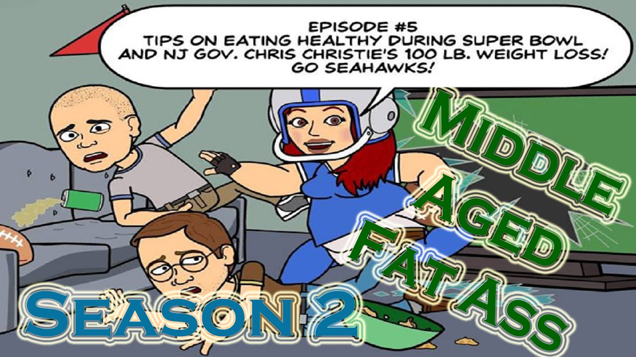 middle aged fat ass season 2 episode #5: super bowl and gov. chris