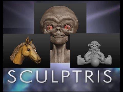 Sculptris правила лепки урок 3