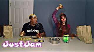 WEAR IT OR EAT IT CHALLENGE!! (MUST SEE HILARIOUS)