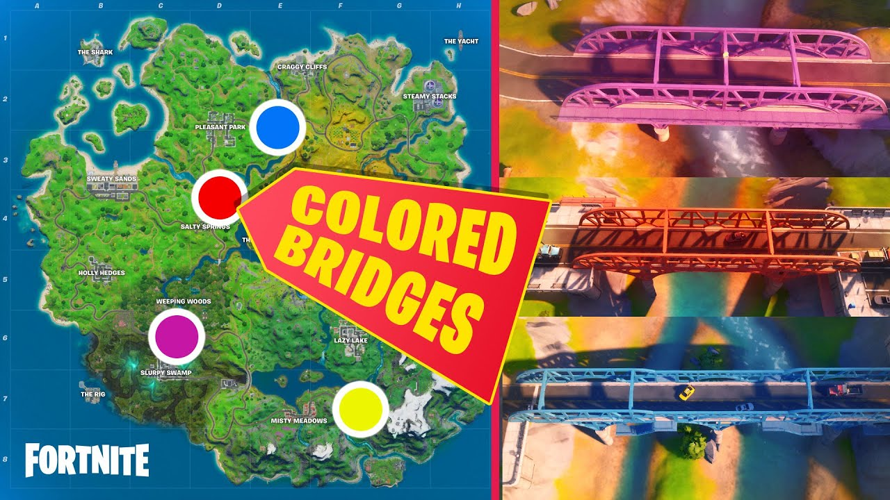 All Colored Steel Bridge Locations - Purple, Red, Blue ...