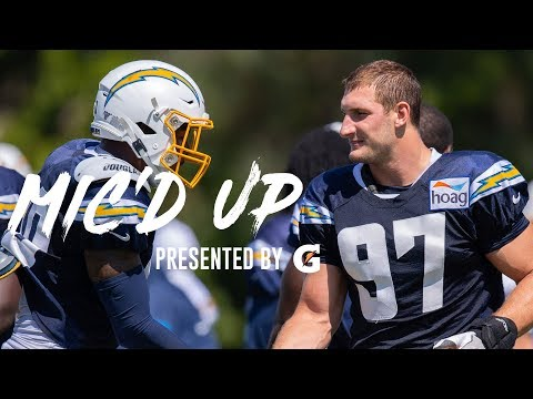 Joey Bosa mic'd up for practice makes the Chargers offense look silly.