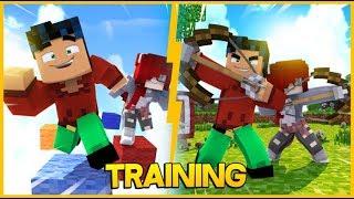 Superhero Training. Parkour archery fun. (Minecraft Roleplay)