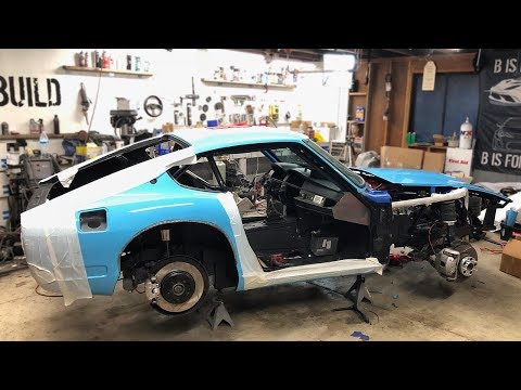 240z BMW V10 Engine Final Installation, Brakes, Air Suspension, Steering, Cooling are ALL DONE!