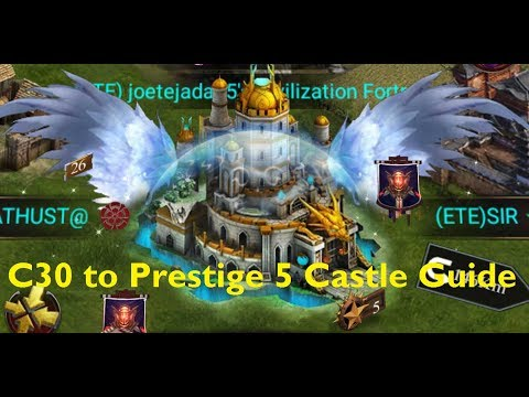 Clash Of Kings - C30 To Prestige 5 Castle Requirement Guide