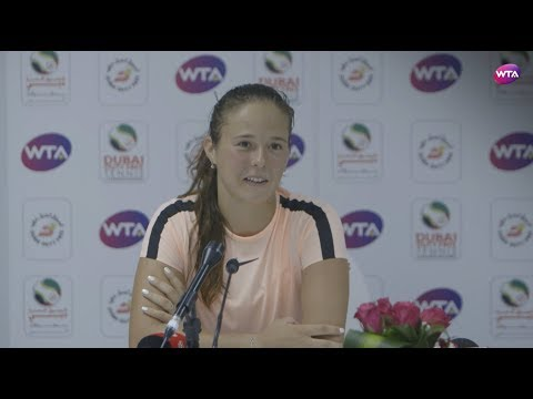 2018 Dubai press conference: Daria Kasatkina 'fighting spirit made the difference'