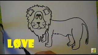 Lær at tegne EN FANTASI LØVE   HVORDANTEGNERJEG.DK